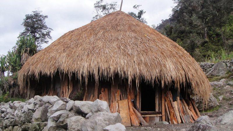 rumah adat papua ebei