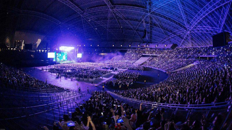 singapur indoor stadium menjadi salah satu stadion bulu tangkis terbaik di dunia