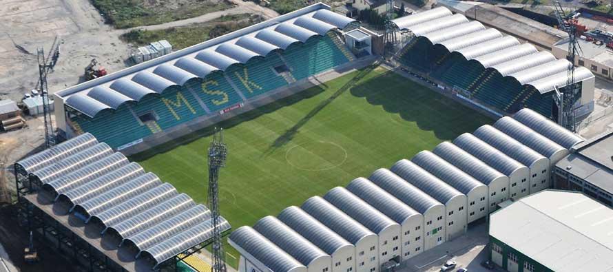 Stadion Pod Dubnom menjadi salah satu stadion terkecil yang ada di dunia
