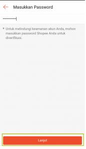 masukan password dhopee